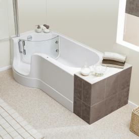 Schröder Pazifik Badewanne mit Duschzone Ecke links