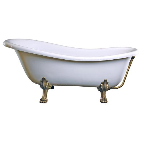 schr der rectime retro style freistehende badewanne wei mit l wenf en und ablaufgarnitur in. Black Bedroom Furniture Sets. Home Design Ideas