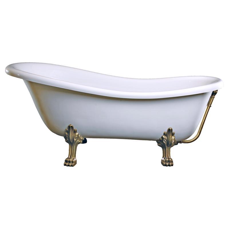 Schröder Rectime Retro Style Freistehende Badewanne Weiß Mit
