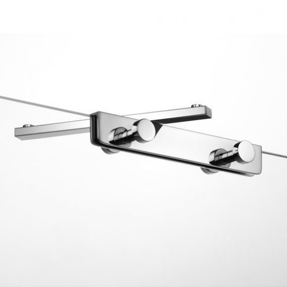 Giese Sky Hakenleiste mit 4 Haken und schwenkbarem Halter für Glasduschwand