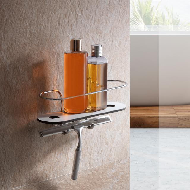 Giese Duschkorb mit Glaswischer