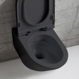 Globo FORTY3 SENZABRIDA® Wand-Tiefspül-WC, spülrandlos schwarz matt