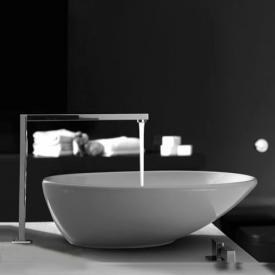 Globo FREE Aufsatzwaschtisch, rund, asymmetrisch weiß