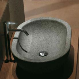 Globo Le PIETRE Aufsatzwaschtisch, oval grau peperino Stein Oberfläche
