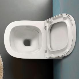 Globo STOCKHOLM SENZABRIDA® Wand-Tiefspül-WC, spülrandlos weiß matt