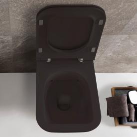 Globo STONE SENZABRIDA® Wand-Tiefspül-WC, spülrandlos schwarz matt, mit CERASLIDE® und BATAFORM®