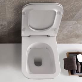 Globo STONE SENZABRIDA® Wand-Tiefspül-WC, spülrandlos weiß, mit CERASLIDE® und BATAFORM®