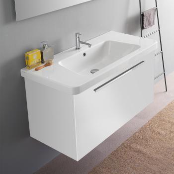 Doppelwaschtisch mit unterschrank weiß  Waschbecken Mit Unterschrank Weiß | gispatcher.com