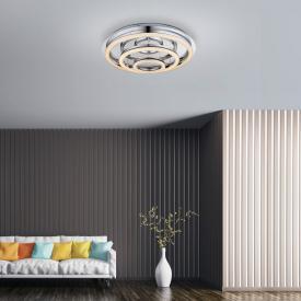 Globo Lighting Spikur LED Deckenleuchte mit Dimmer und CCT