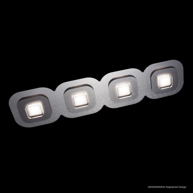 GROSSMANN AP LED Deckenleuchte, 4-flammig, länglich
