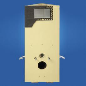 Grumbach Eck-WC-Stein, H: 88 cm, mit Vorsatzplatte aus PUR