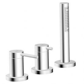 Hansa Designo Fertigmontageset Einhandmischer für alle 3-Loch-Einbausets chrom