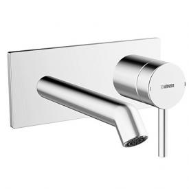 Hansa Designo Fertigmontageset Waschtisch-Einhand-Wandbatterie für Wandeinbau Ausladung: 200 mm