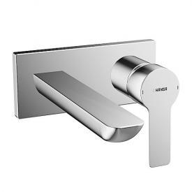 Hansa Ligna Fertigmontageset Waschtisch-Einhand-Wandbatterie für Wandeinbau Ausladung: 190 mm