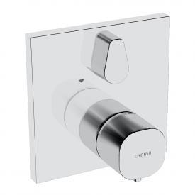Hansa Living UP-Thermostat-Batterie, mit Umstellung, eckig, für Bluebox, mit Sicherungseinrichtung