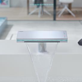 Hansa Murano X Elektronisch gesteuerte Waschtisch-Temperier-Einlochbatterie, Netzbetrieb mit Push-Open-Ablaufgarnitur