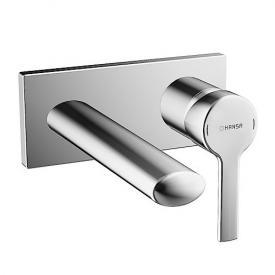 Hansa Ronda Waschtisch-Einhand-Wandbatterie für Wandeinbau Ausladung: 186 mm