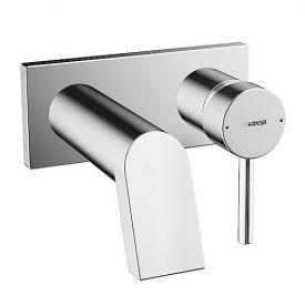 Hansa Stela Waschtisch-Einhand-Wandbatterie für Wandeinbau Ausladung: 166 mm