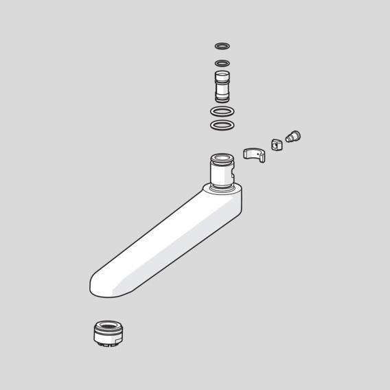 Hansa Auslauf komplett Ausladung: 170 mm
