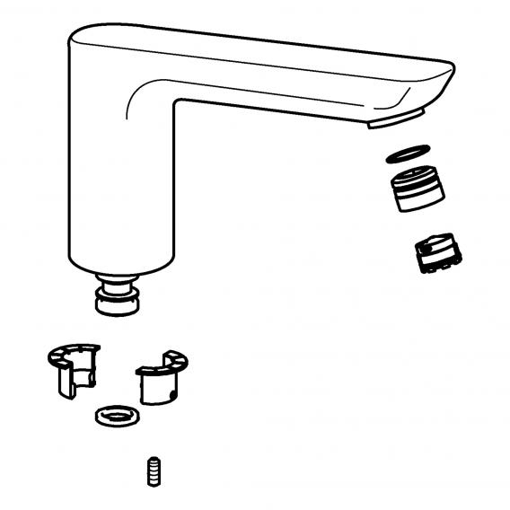 Hansa Auslauf zu Ligna Waschtisch-Einhand-Einlochbatterie