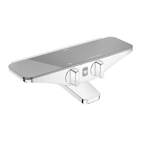 Hansa Emotion Wannen-Thermostat-Batterie, mit Wellfit Körperbehandlung grau/chrom