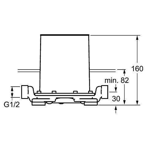 Hansa Unterputz-Einbaukörper für bodenstehende Einhand-Wannen-Batterie