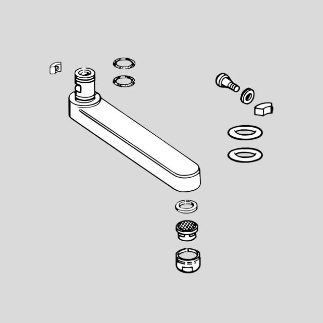 Hansa Auslauf komplett Ausladung: 96 mm