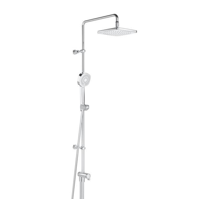 Hansa Basicjet Duschsystem mit wasserführender Brausestange, mit flexiblen Anschlussschläuchen