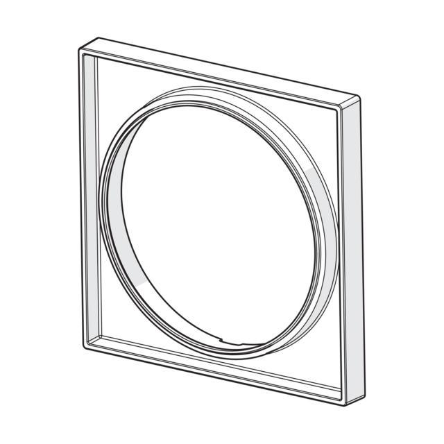 Hansa Bluebox Rosettenverlängerung 15 mm quadratisch