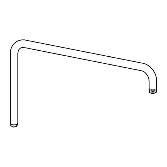 Hansa Brausearm zu Viva Duschsystem mit wasserführender Gleitstange