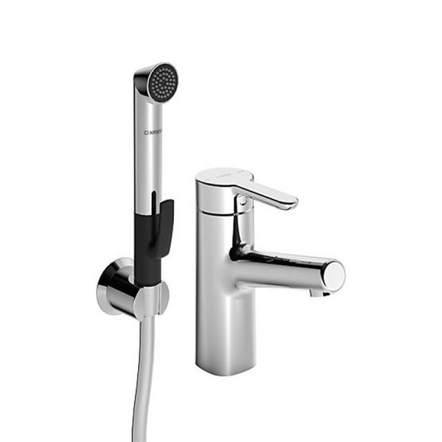 Hansa Designo Style Waschtisch-Einhand-Einlochbatterie mit Funktionsbrause, ohne Ablaufgarnitur
