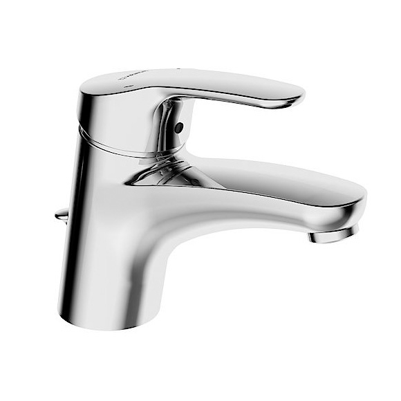 Hansa Mix Waschtisch-Einhand-Einlochbatterie für offene Heißwasserbereiter mit Ablaufgarnitur
