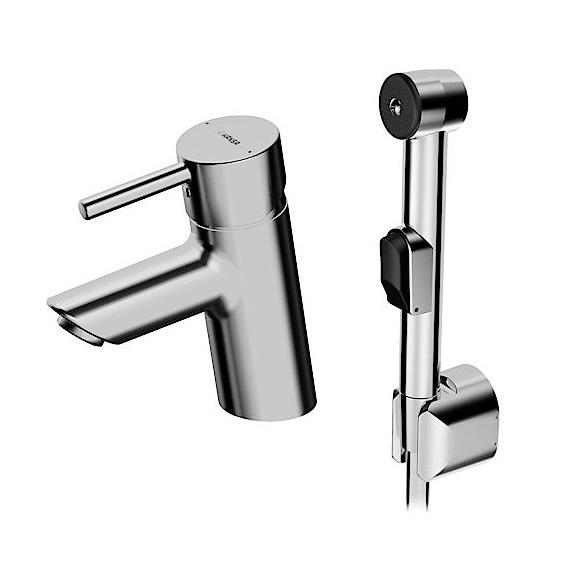 Hansa Vantis Style Waschtisch-Einhand-Einlochbatterie mit Funktionsbrause, ohne Ablaufgarnitur