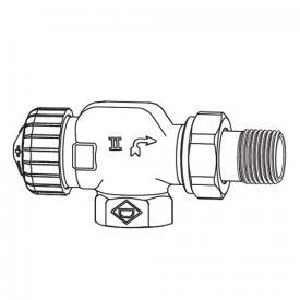 "HEIMEIER V-exact II Thermostat-Ventilunterteil Axial DN15 (1/2"")"