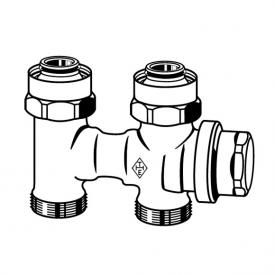 HEIMEIER Vekolux Anschlussverschraubung für Ventilheizkörper, Einrohranschluss