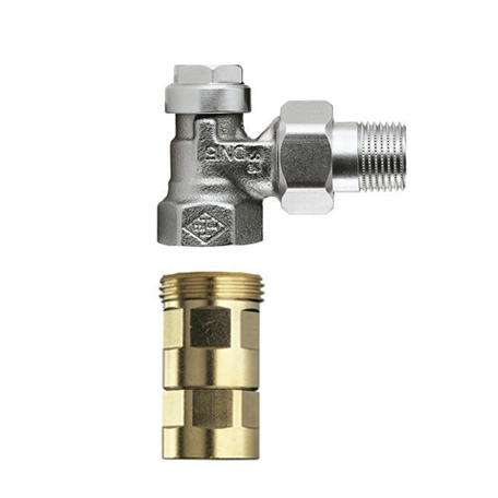 HEIMEIER Regulux Heizkörper-Rücklaufverschraubung, mit Viega Pressanschluss 15 mm