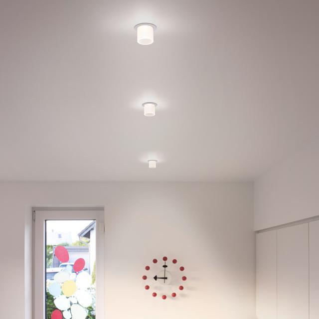 helestra PIC LED Einbaustrahler, rund mit Glas