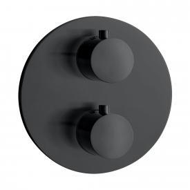 Herzbach DEEP BLACK Unterputz Thermostat für 2 Verbraucher