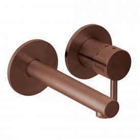 Herzbach Design iX Neu PVD Waschtisch-Unterputzbatterie für Wandmontage copper steel, Ausladung 160 mm