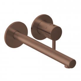 Herzbach Design iX Neu PVD Waschtisch-Unterputzbatterie für Wandmontage copper steel, Ausladung 240 mm