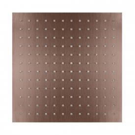 Herzbach Design iX PVD Regenbrause eckig copper steel