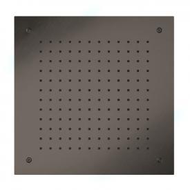 Herzbach Design iX PVD Regenbrause zum Deckeneinbau black steel