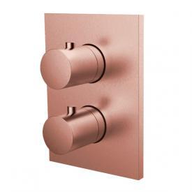 Herzbach Design iX PVD Unterputz Thermostat eckig für 1 Verbraucher, copper steel