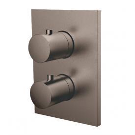 Herzbach Design iX PVD Unterputz Thermostat eckig für 2 Verbraucher, black steel