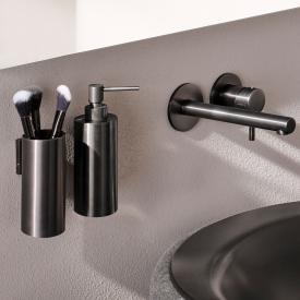 Herzbach Design iX PVD Zahnputzbecher, wandhängend black steel