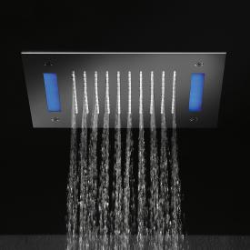 Herzbach Living Spa Regenbrause mit LED Beleuchtung, Deckeneinbau edelstahl poliert