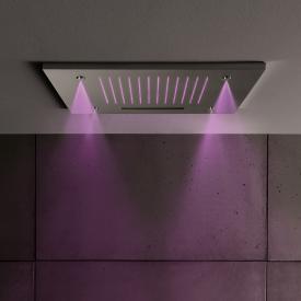 Herzbach Living Spa Regenbrause B: 500 T: 500 mm, Multifunktion 3, Deckeneinbau, mit LED-Beleuchtung edelstahl gebürstet