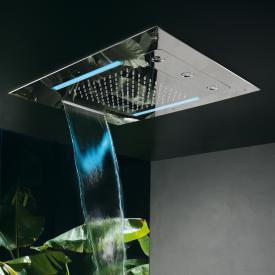 Herzbach Living Spa Farblicht-Regenbrause, Multifunktion 3, Deckeneinbau edelstahl poliert