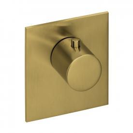 Herzbach Logic XL Vario Einzel-Thermostatmodul eckig brass steel