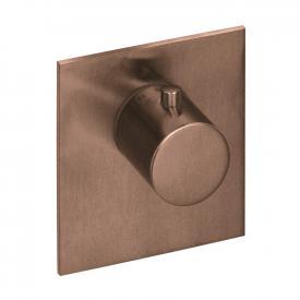 Herzbach Logic XL Vario Einzel-Thermostatmodul eckig copper steel